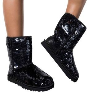 UGG Black Classic Sparkles Boots